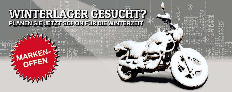 Motorrad-Winterlager